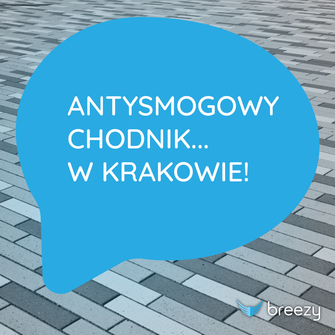 Antysmogowy chodnik w Krakowie!