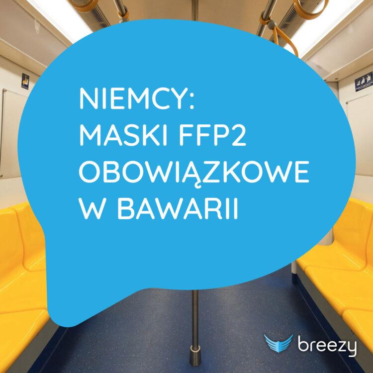 Niemcy: Maski FFP2 obowiązkowe w Bawarii